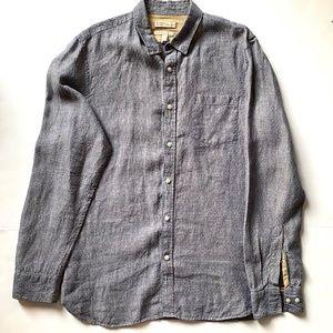 BANANA REPUBLIC 100% linen tailored slim fit shirt